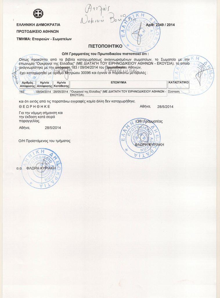 Сертифікат реєстрації